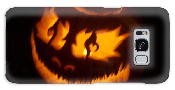 Flame Pumpkin Side Galaxy Case