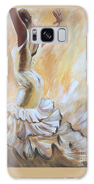 Flamenco Dancer In White Dress Galaxy Case