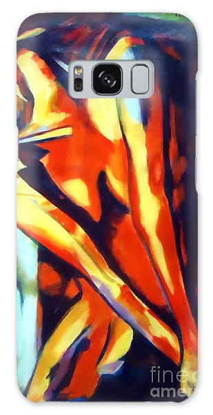 Flames Of Needs Galaxy Case by Helena Wierzbicki
