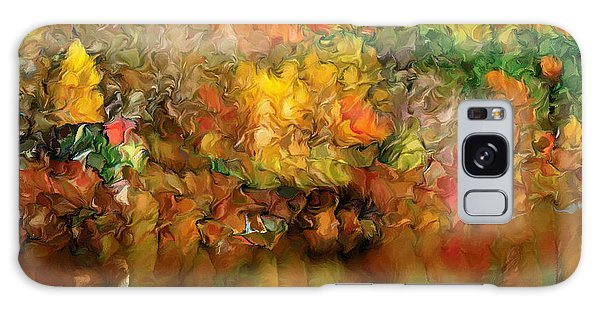 Flaming Autumn Abstract Galaxy Case