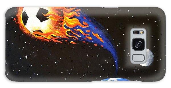 Flaming Balls #3 Soccer Galaxy Case