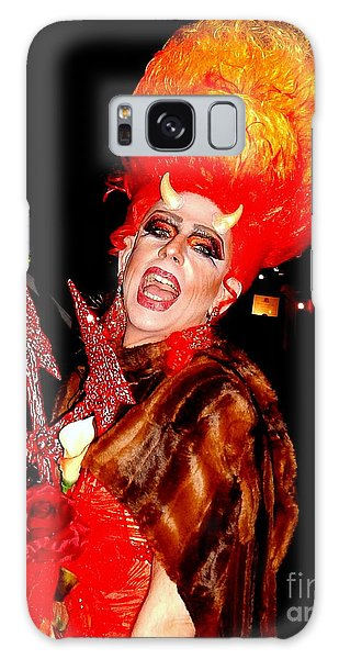 Halloween Flamming Devilish Deva Costume In The French Quarter Of New Orleans Galaxy Case