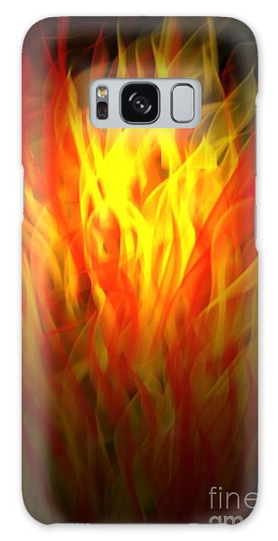 Flaming Fire Galaxy Case by Gayle Price Thomas