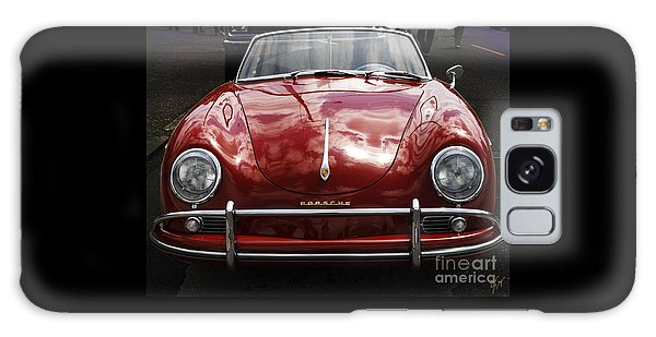Flaming Red Porsche Galaxy Case by Victoria Harrington