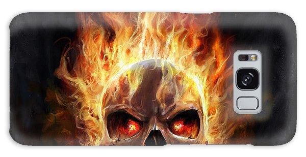 Flaming Skull Galaxy Case