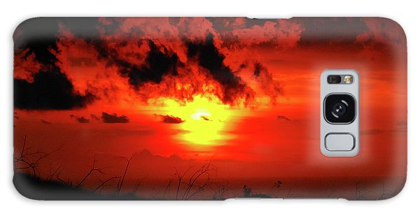 Flaming Sunset Galaxy Case