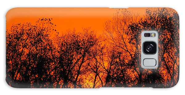 Flaming Sunset II Galaxy Case