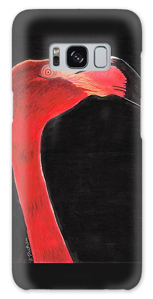 Flamingo Art By Sharon Cummings Galaxy Case by Sharon Cummings