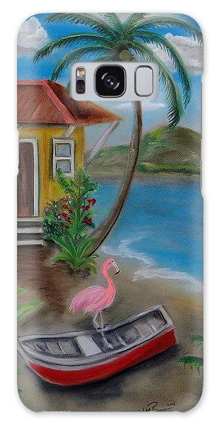 Flamingo Beach Galaxy Case