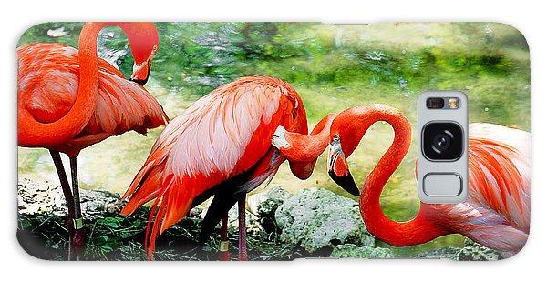 Flamingo Friends Galaxy Case