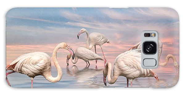 Flamingo Lagoon Galaxy Case by Brian Tarr