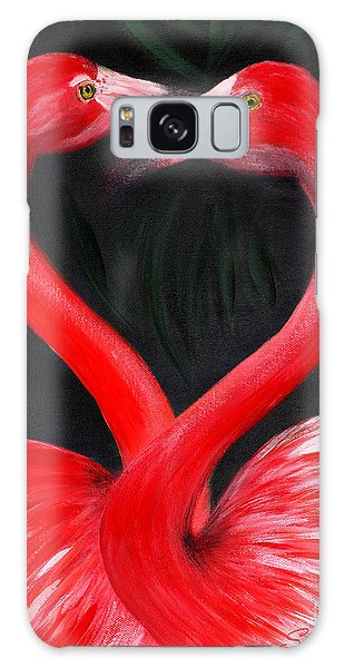 Love  Is... Flamingo Love. Inspirations Collection Galaxy Case