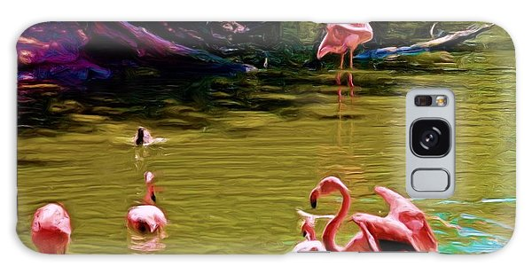 Flamingo Party Galaxy Case