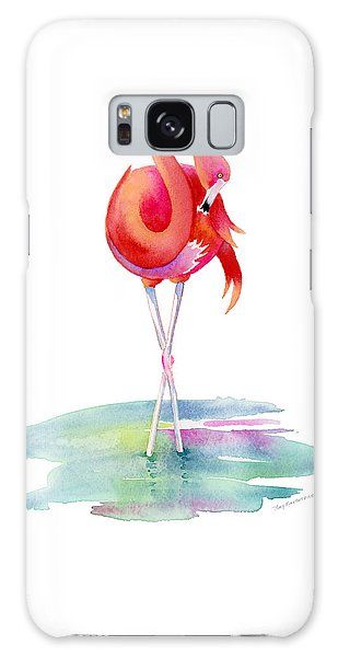 Flamingo Primp Galaxy Case by Amy Kirkpatrick