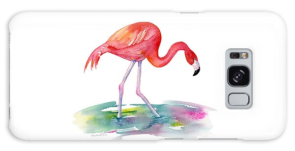 Flamingo Step Galaxy Case