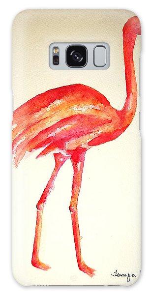 Flamingo Strut Galaxy Case