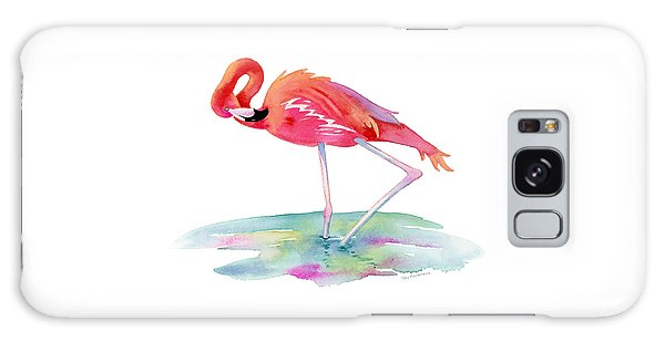 Flamingo View Galaxy Case