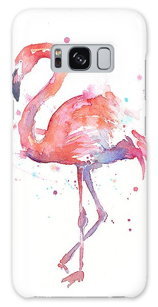 Flamingo Watercolor Galaxy Case