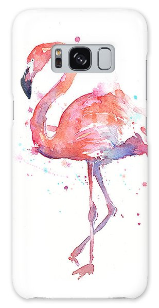 Galaxy Case - Flamingo Watercolor by Olga Shvartsur