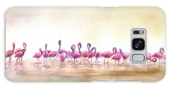 Flamingoes Land Galaxy Case