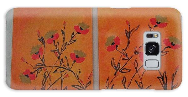 Flanders Poppies Galaxy Case by Sharyn Winters