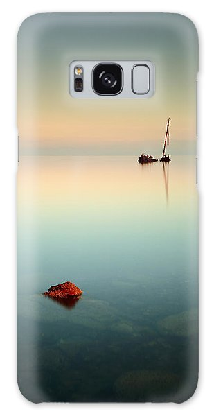 Flat Calm Shipwreck Sunrise Galaxy Case