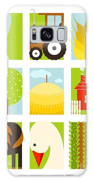 Rural Galaxy S8 Case - Flat Childish Rectangular Agriculture by Popmarleo