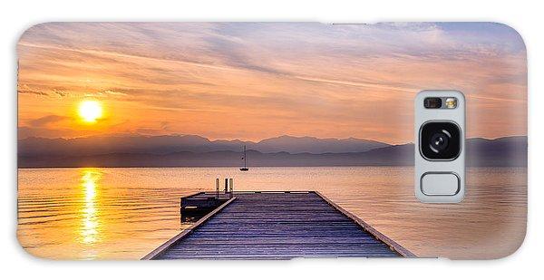 Flathead Lake Sunrise Galaxy Case