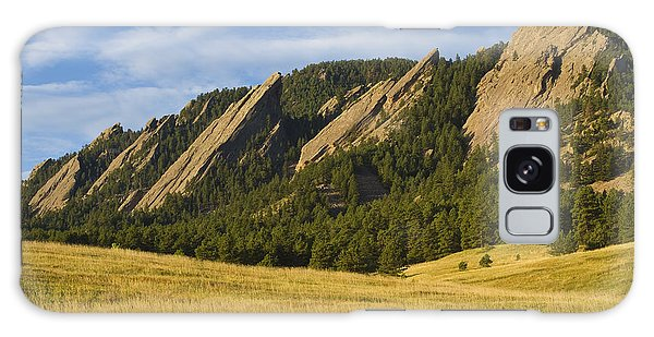 Flatiron Morning Light Boulder Colorado Galaxy Case