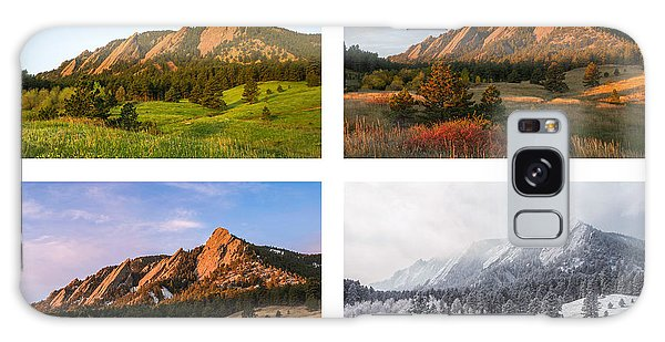 Flatirons Four Seasons With Border Galaxy Case