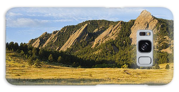 Flatirons From Chautauqua Park Galaxy Case