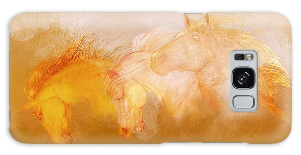 Galaxy Case featuring the painting Flaxen Manes by Valerie Anne Kelly