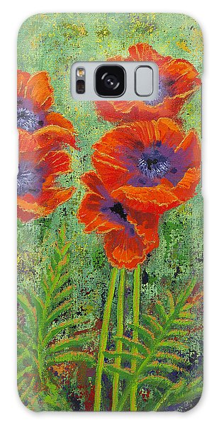 Fleurs Des Poppies Galaxy Case by Margaret Bobb