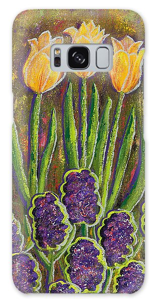 Fleurs D' Tulips And Hyacinths Galaxy Case by Margaret Bobb