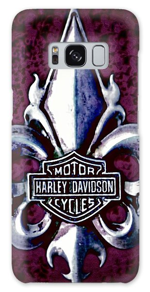 Fleurs De Lys With Harley Davidson Logo Galaxy Case