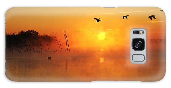 Flight At Sunrise Galaxy Case