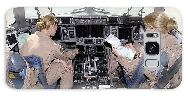 Two People Galaxy Case - Flight Captains Review Flight by Stocktrek Images