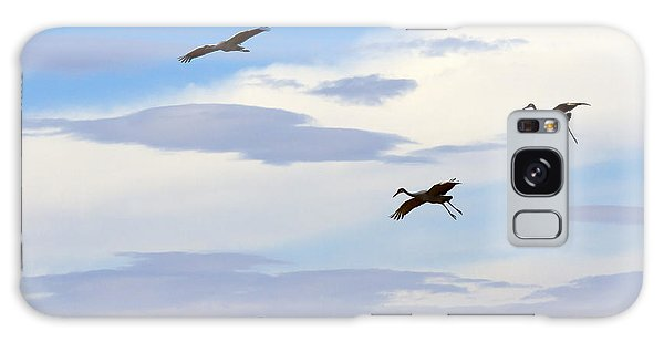 Flight Of The Sandhill Cranes Galaxy Case
