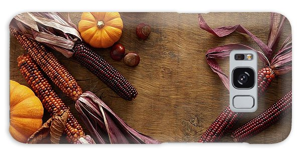 Indian Corn Galaxy Case - Flint Corn And Pumpkins by Science Photo Library