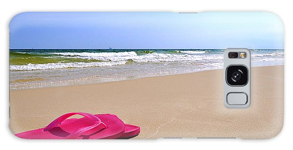 Flip Flops On Beach Galaxy Case