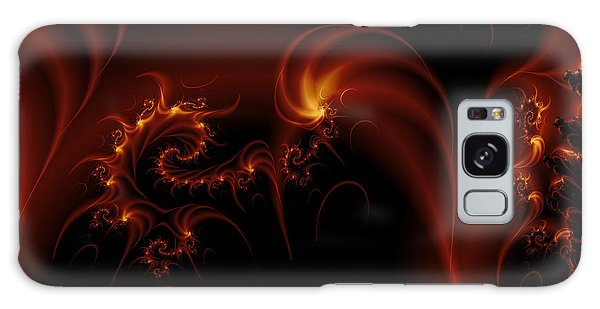 Floating Fire Fractal Galaxy Case