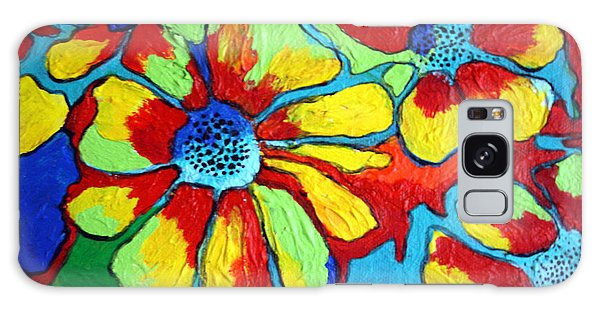 Floating Flowers Galaxy Case by Alison Caltrider