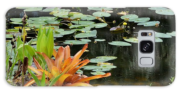 Floating Lily Pond Galaxy Case