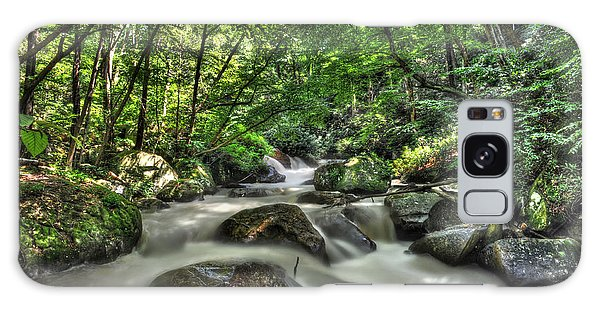 Galaxy Case featuring the photograph Flooded Small Stream  by Dan Friend