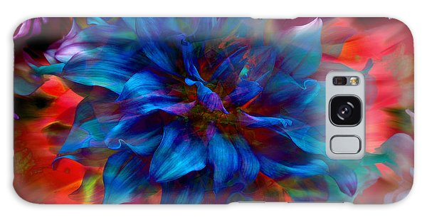 Floral Abstract Color Explosion Galaxy Case by Stuart Turnbull