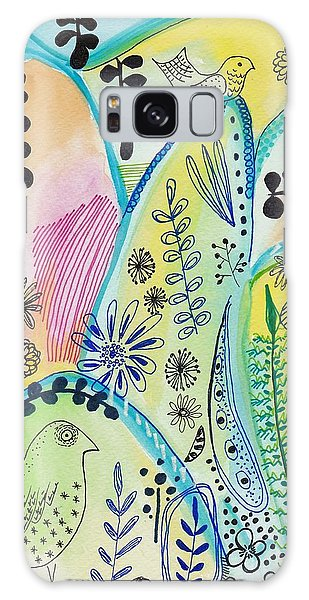 Floral Abstract Painting Galaxy Case