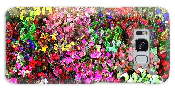Floral Basket 1 2 To 1 Aspect Ratio Galaxy Case