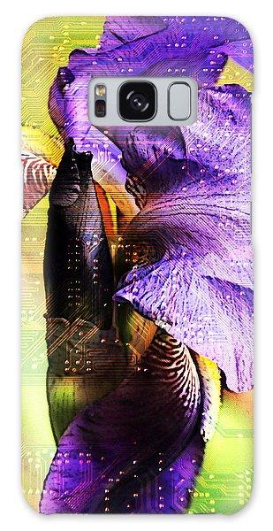 Floral Circuit Galaxy Case by Davina Washington