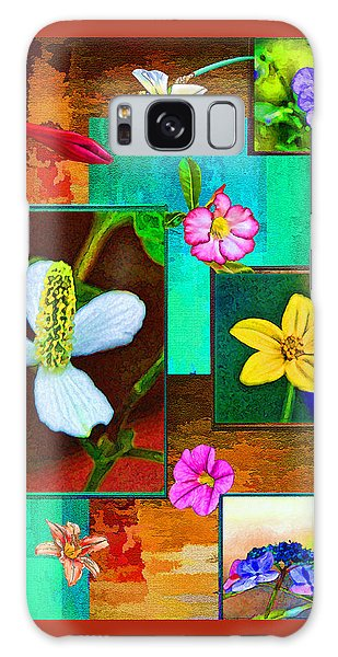 Floral Frames Galaxy Case by Larry Bishop