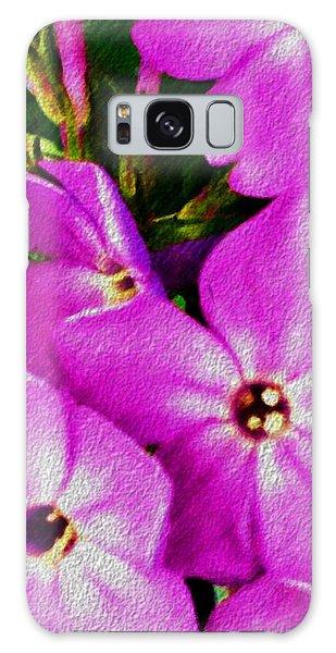 Floral Fun 012714 Galaxy Case by David Lane